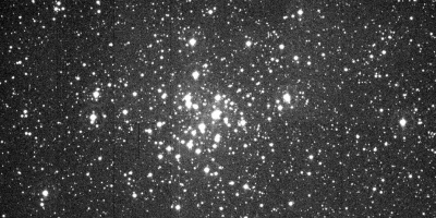 First light image of J-PAS Pathfinder, installed at JST/T250. This is the raw image, without any correction of astronomical instrumentation systematics. The image shows the open stellar cluster NGC1960 (M36), which lies about 4100 light-years away. Credit: Centro de Estudios de Física del Cosmos de Aragón (CEFCA)